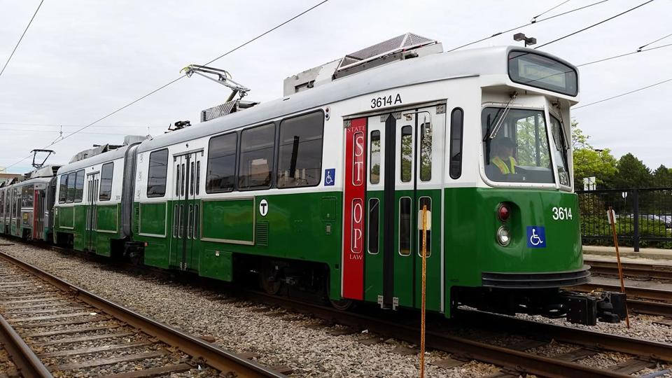 First refurbished Green Line trolley hits the tracks - The Boston ...