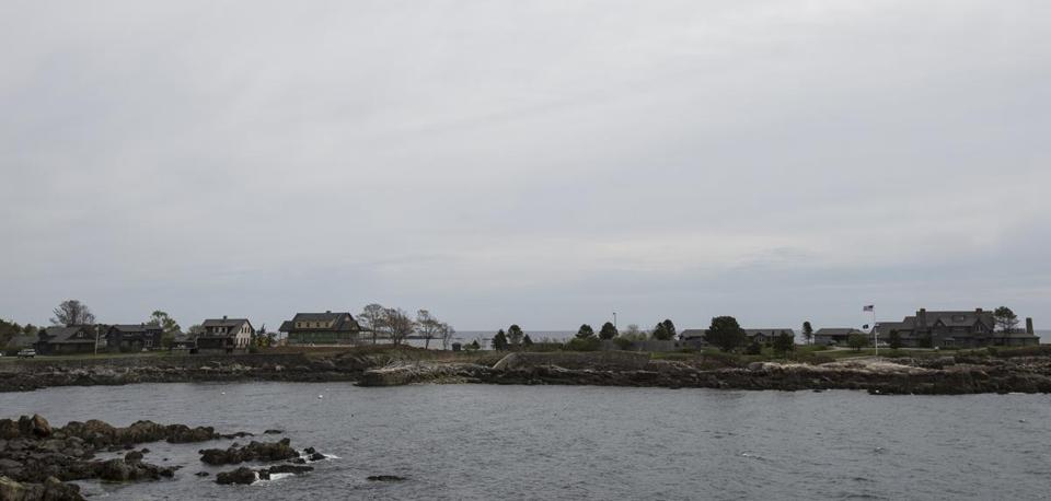 The Bush family compound in Kennebunkport.