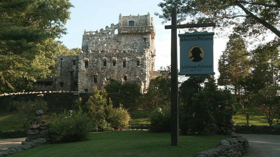 Gillette Castle, located in East Haddam, CT, was owned by the famous actor William Gillette.