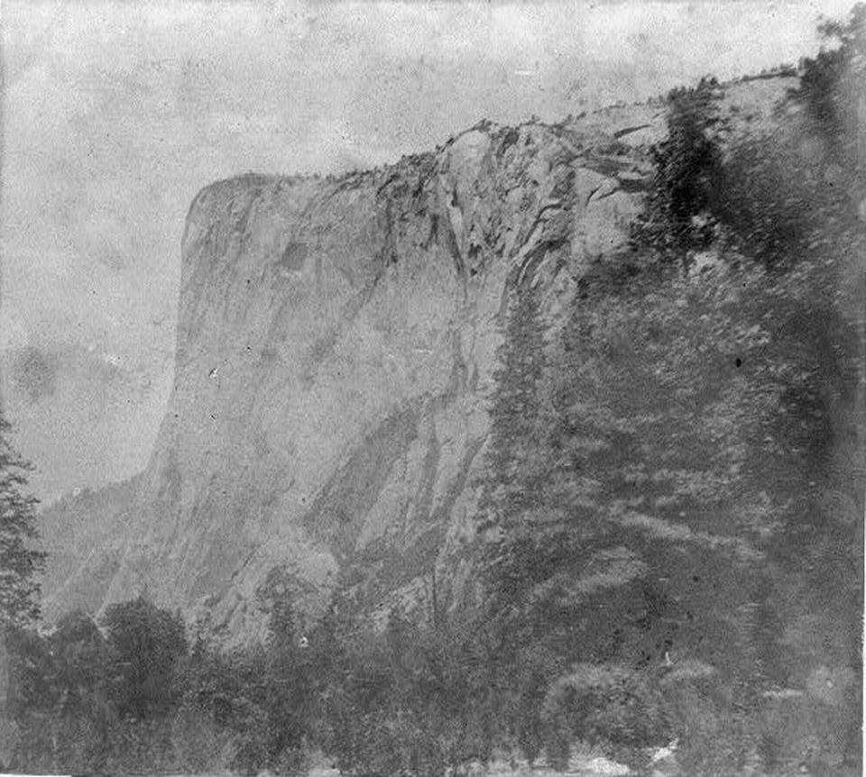 This image of El Capitan in Yosemite Valley was originally published in 1866.