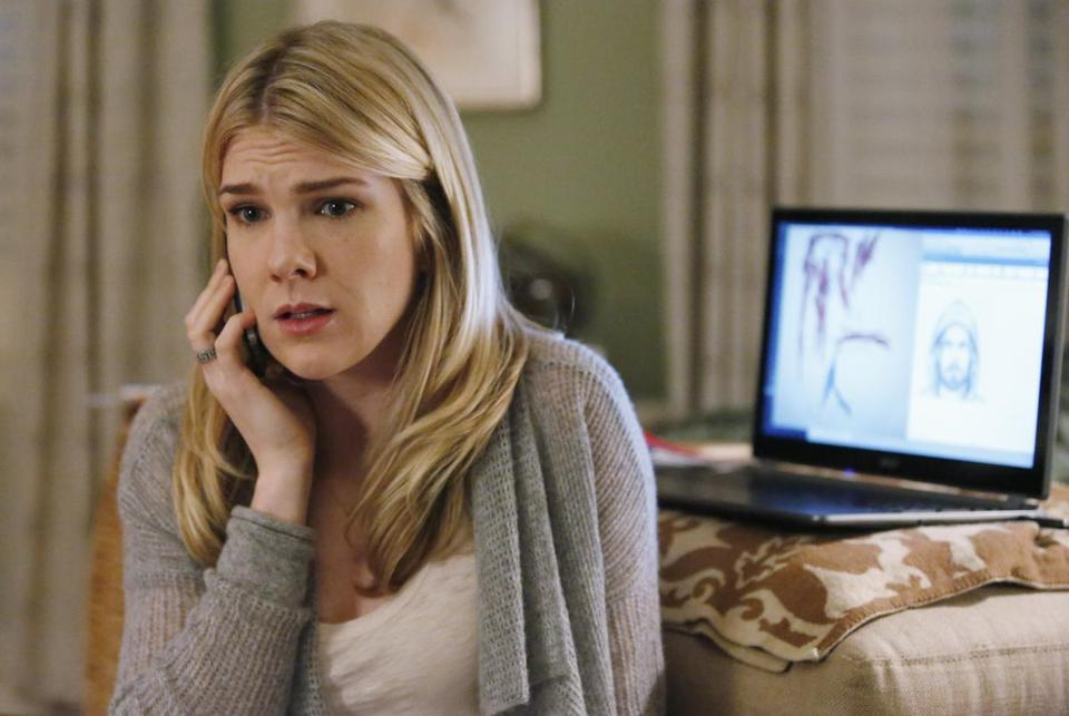 "Lily Rabe (above) plays a child specialist called in by the FBI and Milo Ventimiglia, a mysterious ""John Doe."""