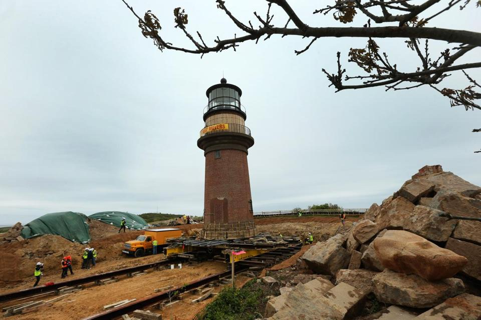 The Gay Head lighthouse on Martha's Vineyard was moved in 2015 to protect it from erosion.