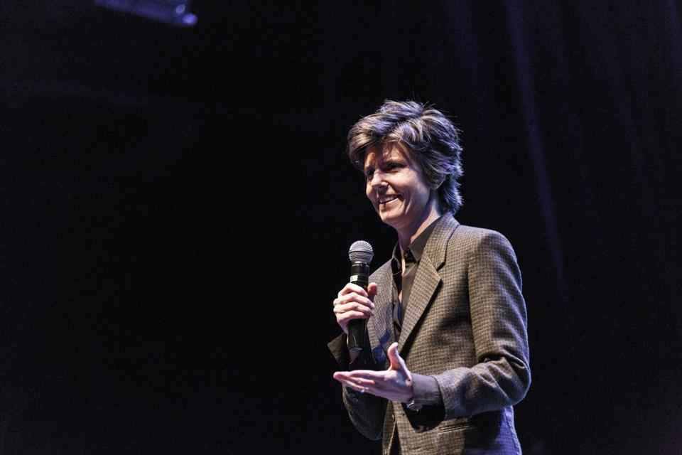 Tig Notaro (pictured in Los Angeles in April) filmed her HBO special Sunday in Boston.