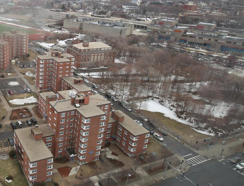 A view of the Tremont Street property in Roxbury where a mixed-used development is proposed.