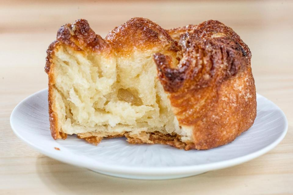 Kouign amann (above) is made in steps.