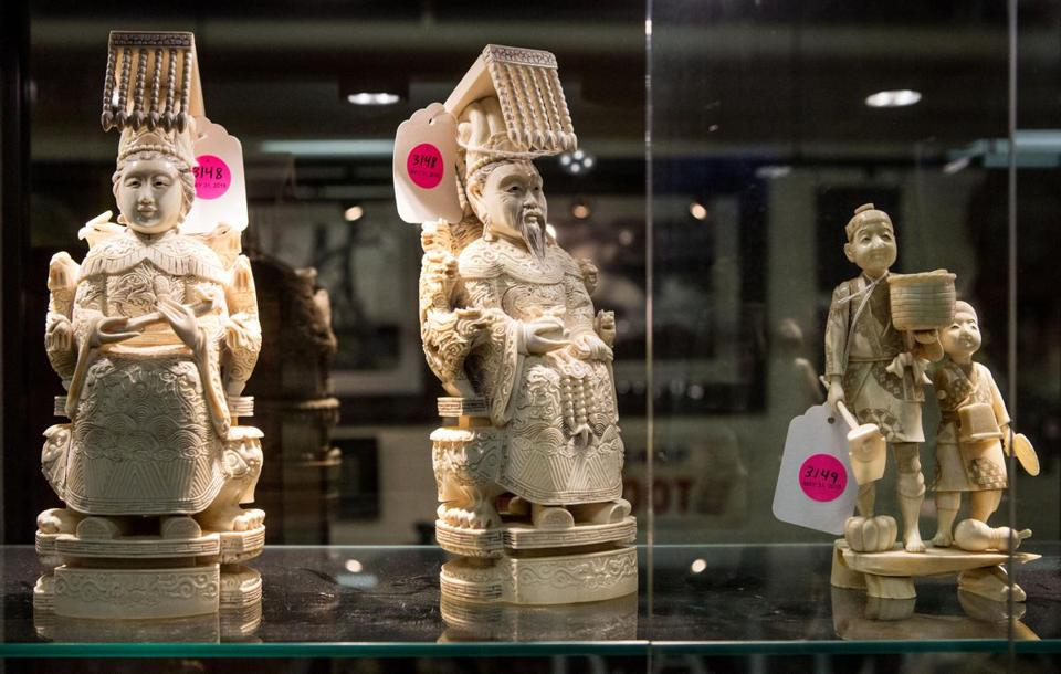 With no proof of the ivory's age, a Beverly auction house canceled the sale of these figurines.