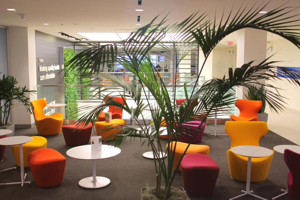 An open lounge area at Blue Cross headquarters.