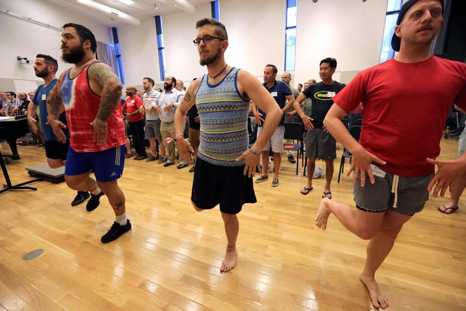 The Boston Gay Men's Chorus, with about 175 singers, has been rehearsing for several weeks and also receiving cultural training on life in Israel.