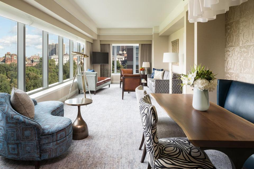 """Stunning"" is how several recent guests described the Parkview Suite at the Ritz-Carlton, Boston Common."
