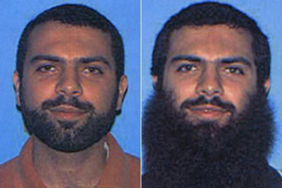 Ahmad Abousamra, 33, as seen in photos from 2004 (left) and 2002.