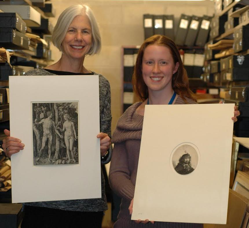 The found artworks were displayed by Boston Public Library officials.