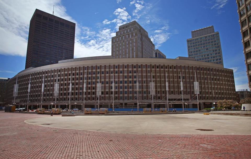 Center Plaza, located across the street from City Hall.