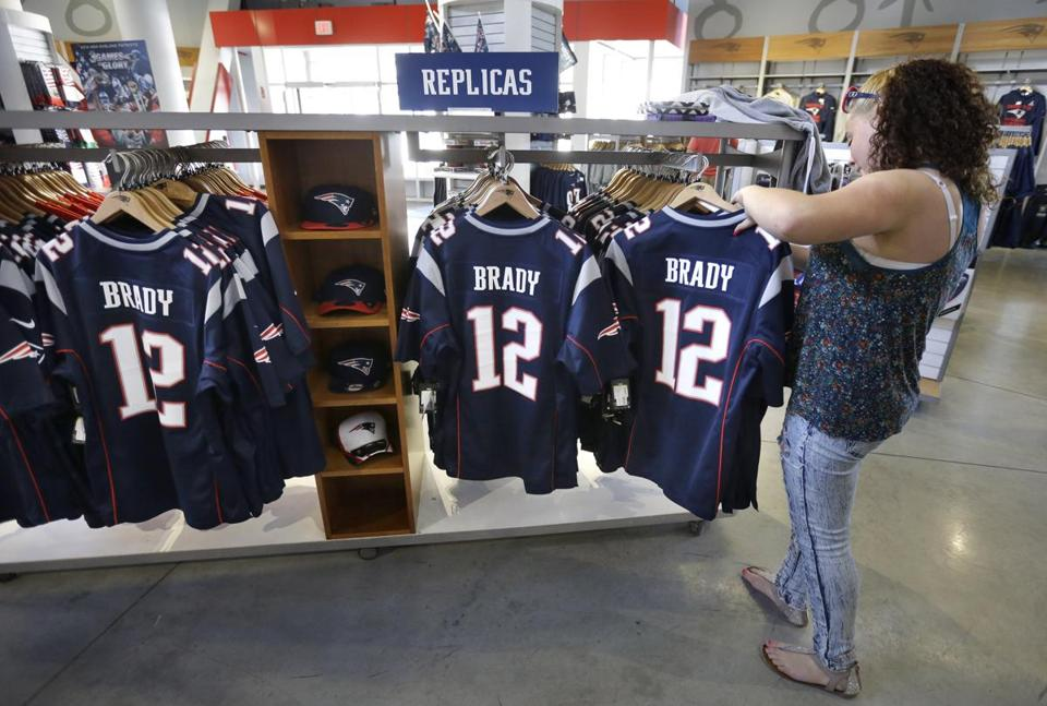 Tom Brady's jersey was the third-best selling in May.