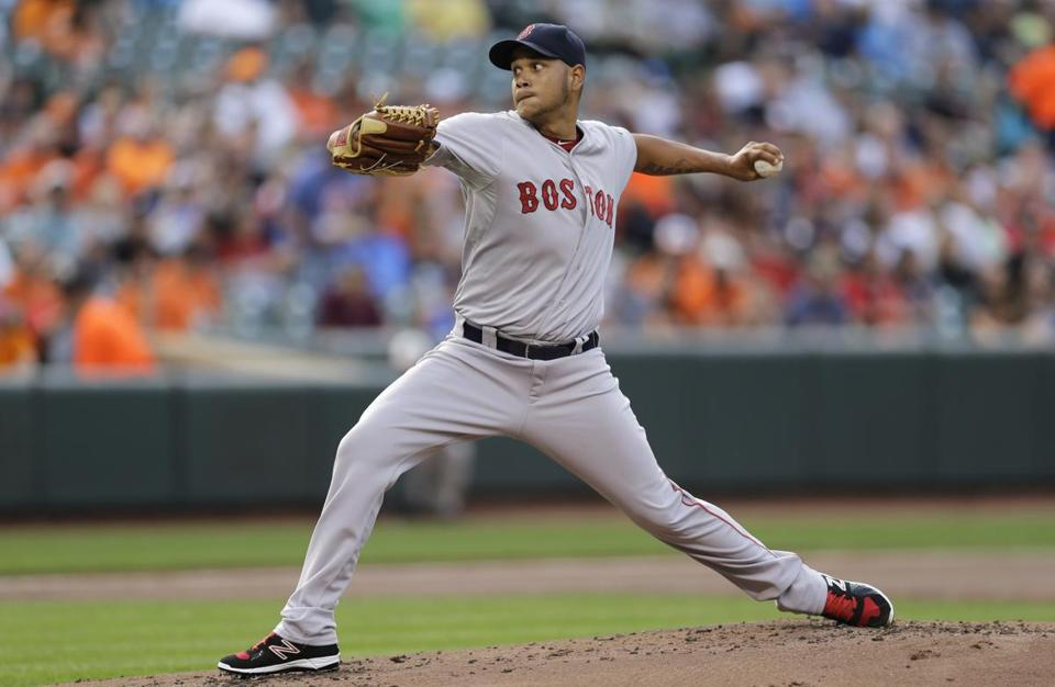 Eduardo Rodriguez, shown during Wednesday's game, has allowed one run in his first three starts for the Red Sox.