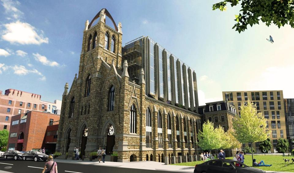 A Rendering Of The Former Holy Trinity Church In The South End, Converted  To Condos