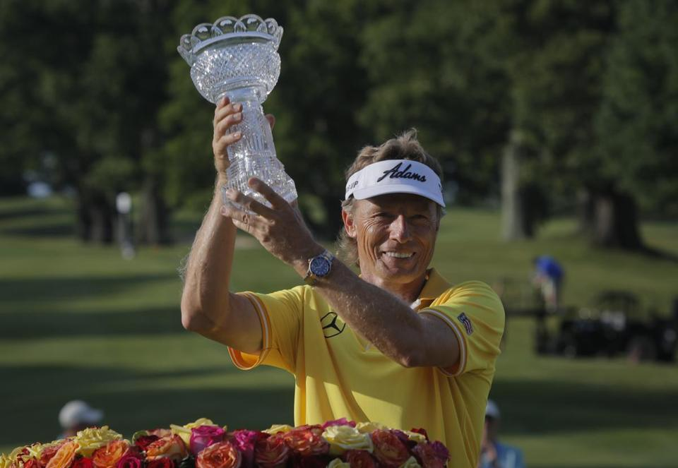 Bernhard Langer became the first player since Arnold Palmer to successfully defend his Senior Players Championship.