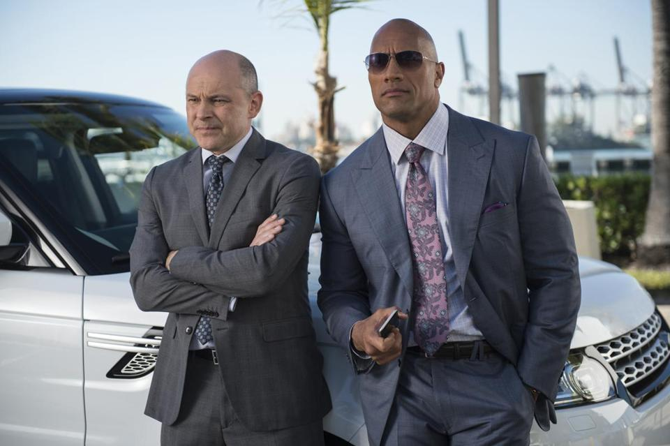 "Rob Corddry (left) and Dwayne ""The Rock"" Johnson."