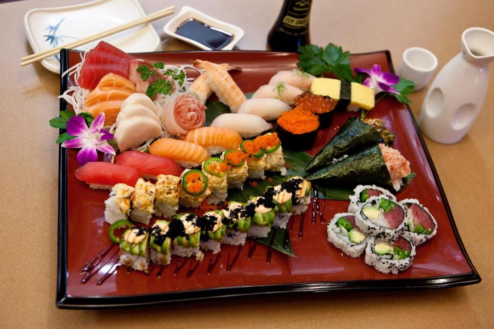 A Bounteous Sushi Platter Etizer Is Available At The Medford Restaurant