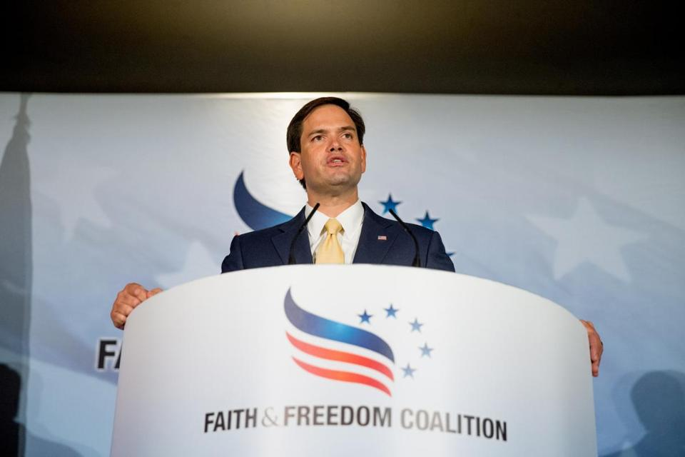 Sen. Marco Rubio during the Road to Majority 2015 convention.