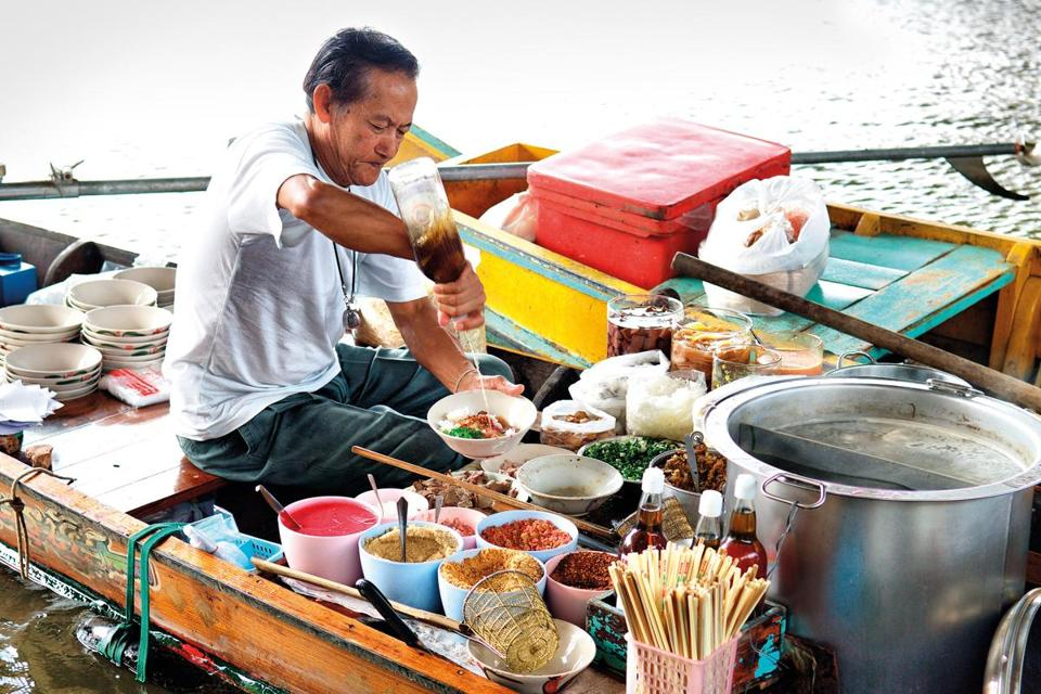 On a tour of Thailand via Intrepid, visitors can sample many different foods