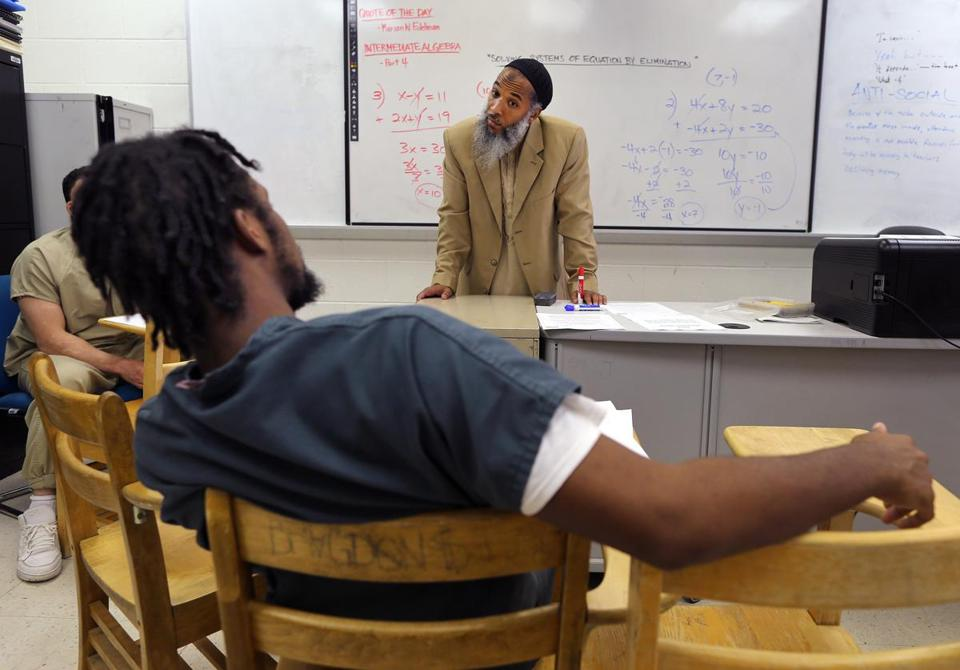 Ismail Abdurrashid teaches inmates at the South Bay House of Correction.
