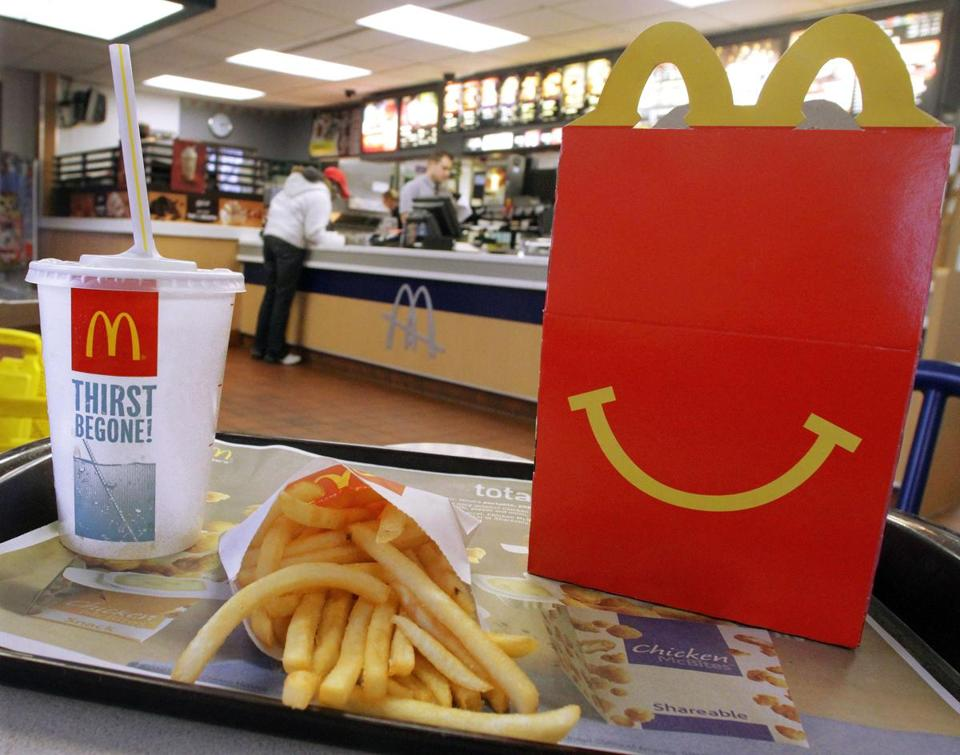 20 2012 photo the mcdonalds logo and a happy meal