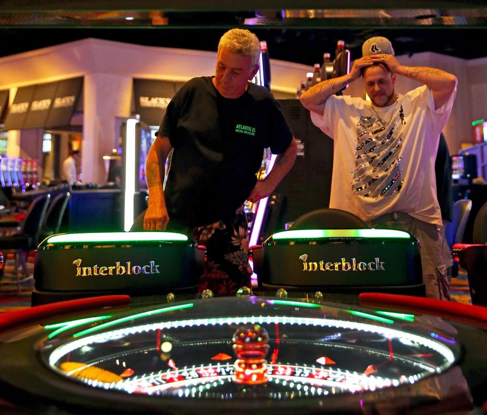 Dean Roberts and Joe Brewer played the roulette table at 7:30 a.m.