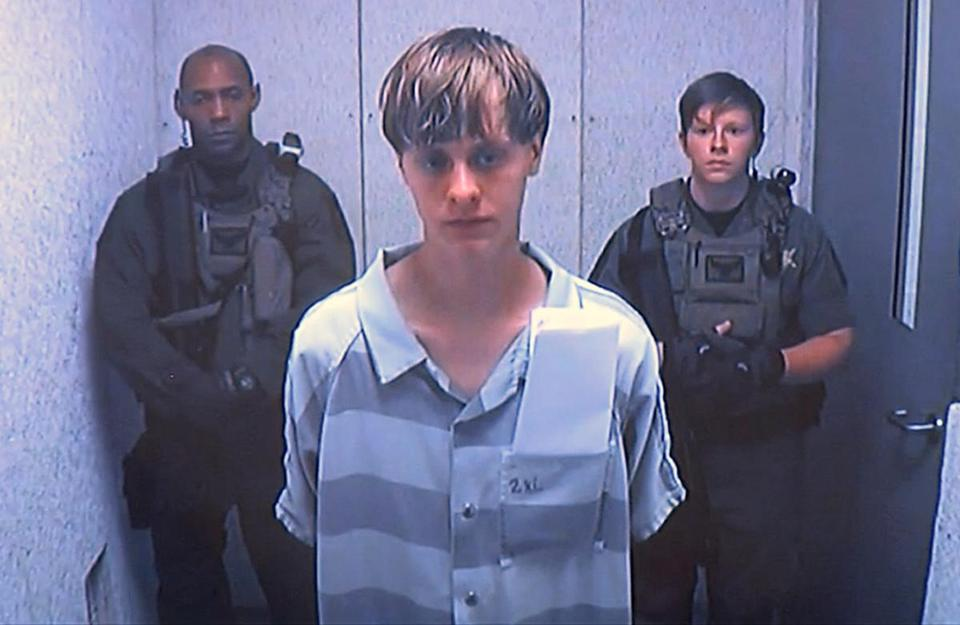 Suspected Charleston shooter Dylann Storm Roof appeared via video before a judge on June 19.