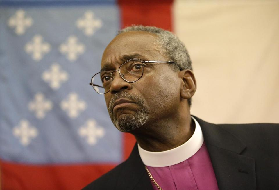Bishop Michael Curry, of North Carolina, is the first African-American presiding bishop of the Episcopal Church in the US.