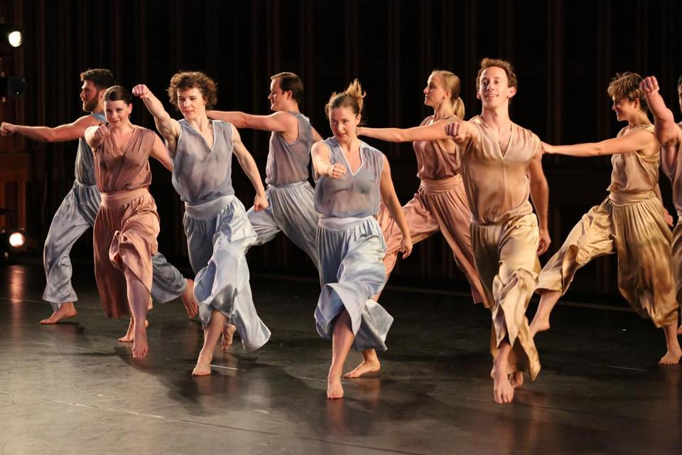 "The Mark Morris Dance Group performing its world premiere of ""The"" at Tanglewood Music Center."