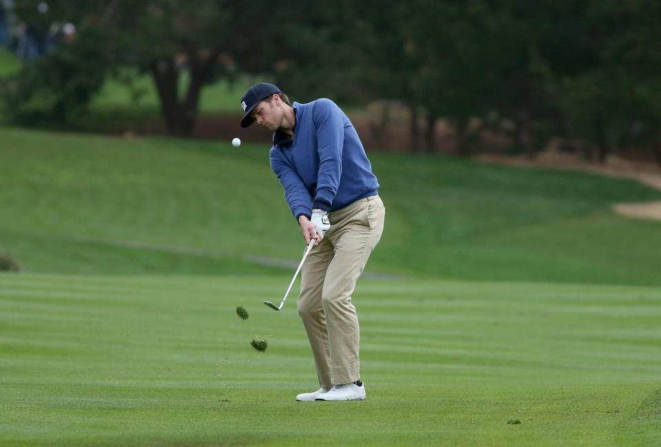 Tom Brady, an avid golfer, pitched onto the 13th green during the third round of the AT&T Pebble Beach National Pro-Am in February 2014 in Pebble Beach, Calif.