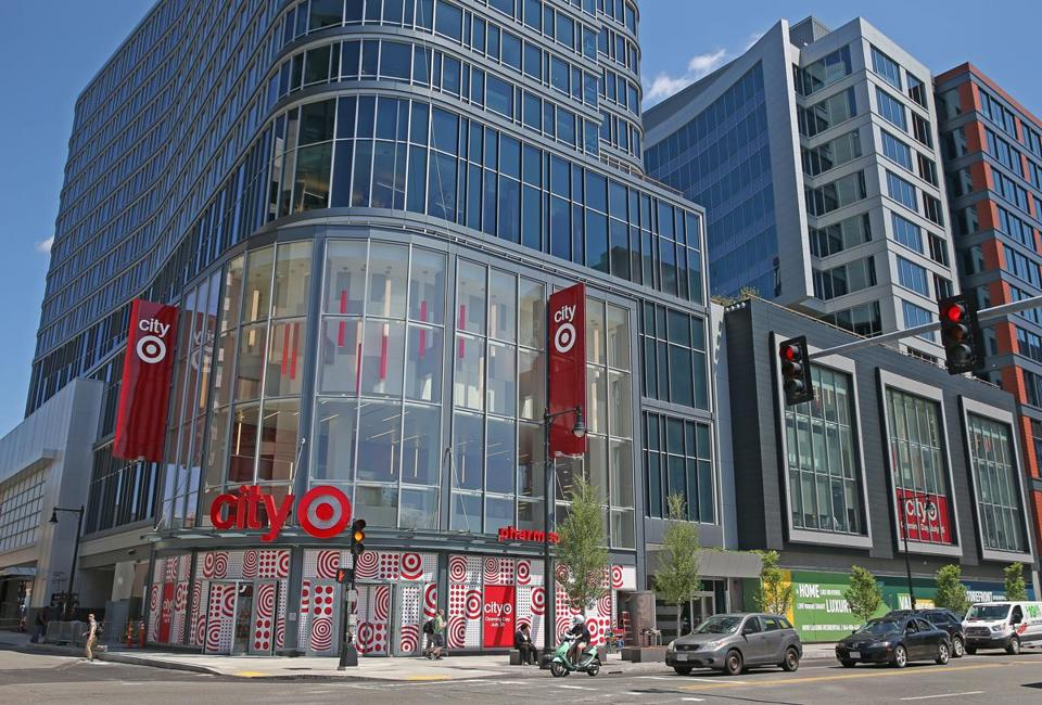 The CityTarget store under construction at the corner of Boylston and Kilmarnock streets in the Fenway area of Boston.
