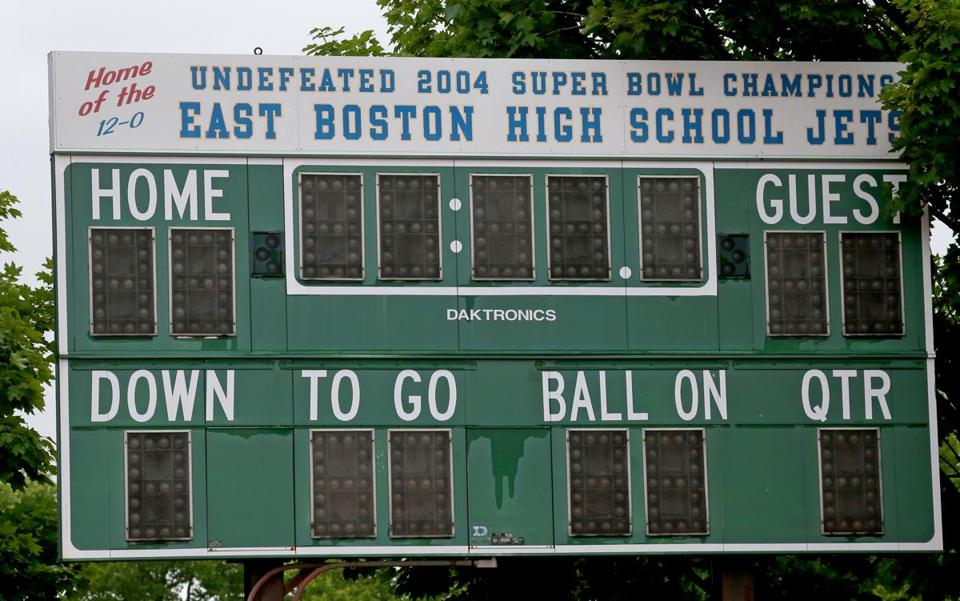 Suffolk will also replace the facility's electronic scoreboards.