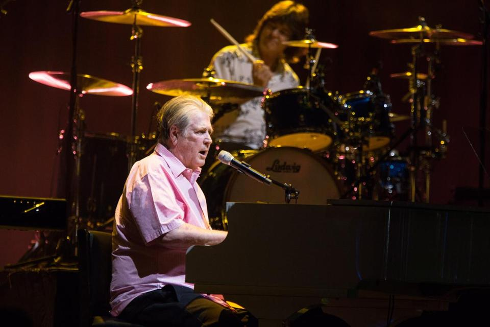 Brian Wilson performing at the Blue Hills Bank Pavilion in 2015.