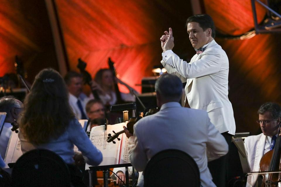 Boston Pops conductor Keith Lockhart led the orchestra.