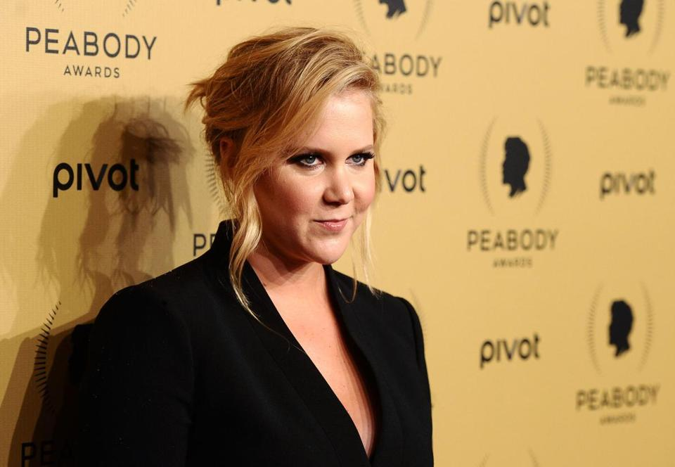 "Amy Schumer (pictured in New York in May) wrote and stars in ""Trainwreck,"" which opens Friday."