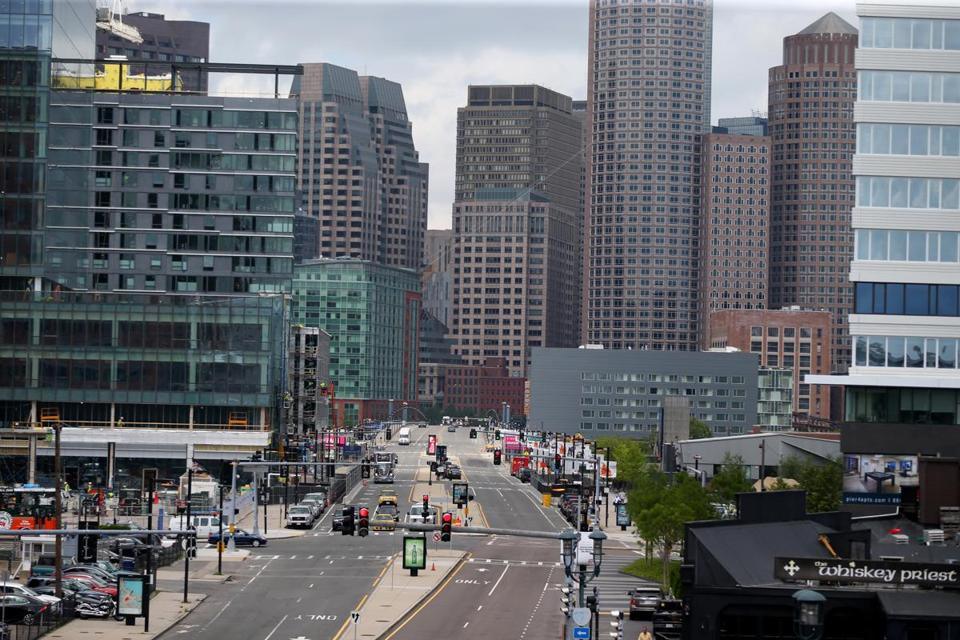 Some of China's big insurance companies have provided financing for pricey condo towers under construction in the Seaport District (above) and the Fenway.