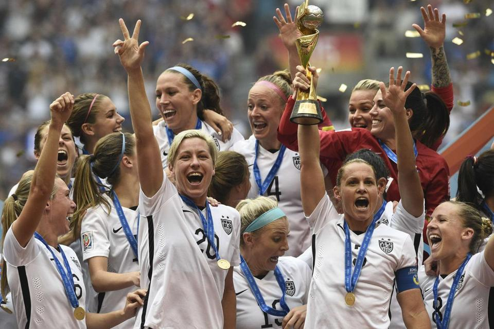 The largest US television audience for a soccer match tuned in Sunday to see the American side win the Women's World Cup.