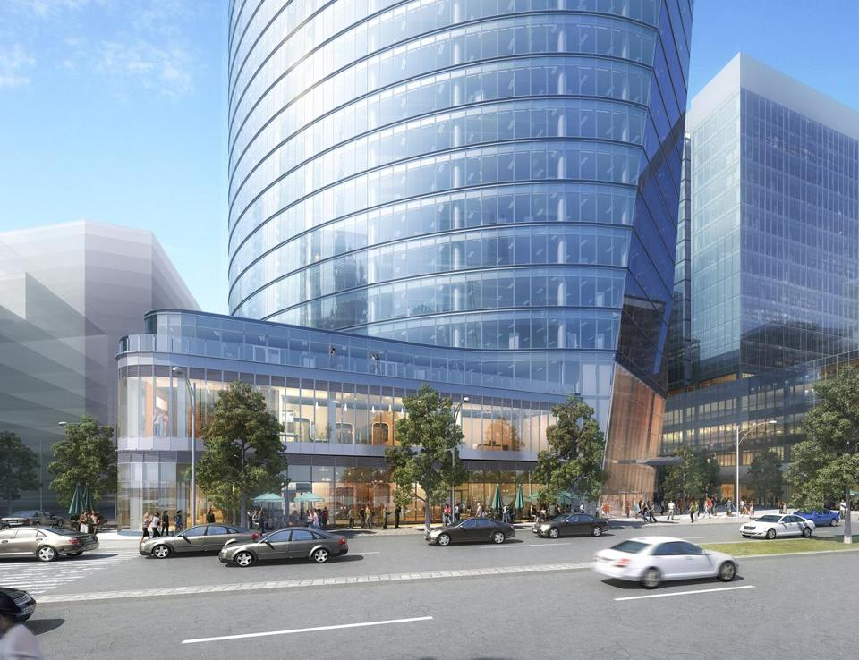 A rendering of 121 Seaport Boulevard, an office tower proposal for the Seaport District.