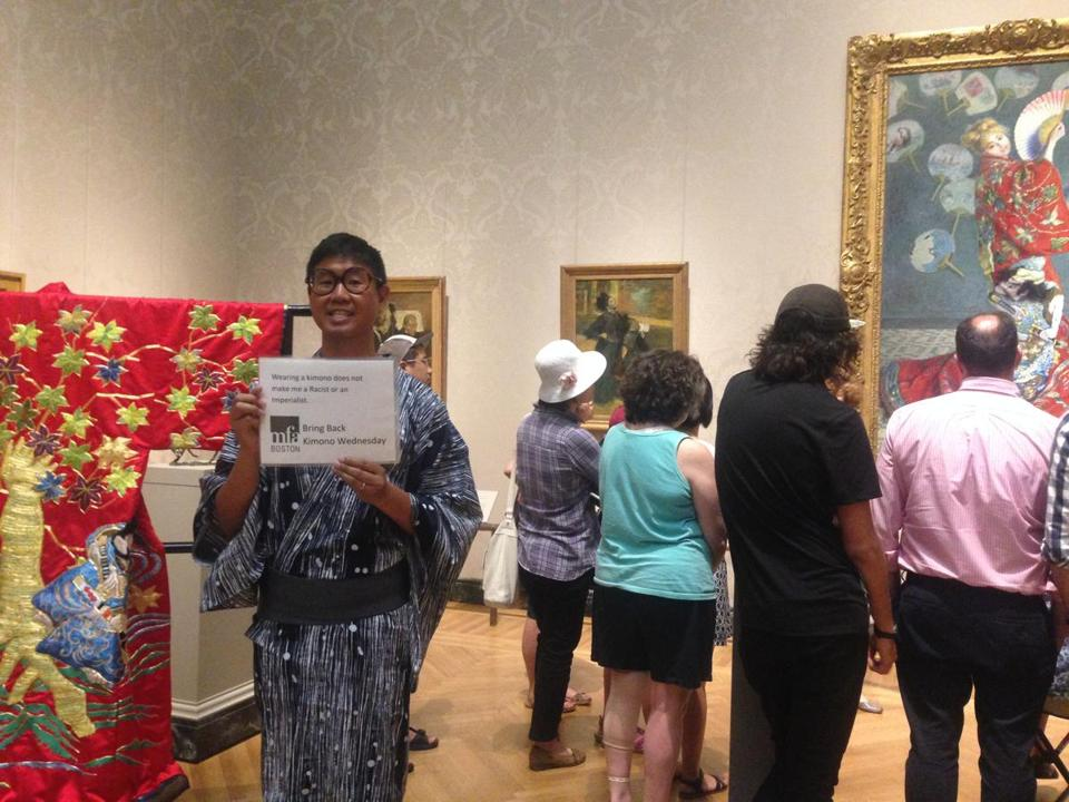 "Timothy Nagaoka showing his support for the original ""Kimono Wednesdays"" program at the Museum of Fine Arts."