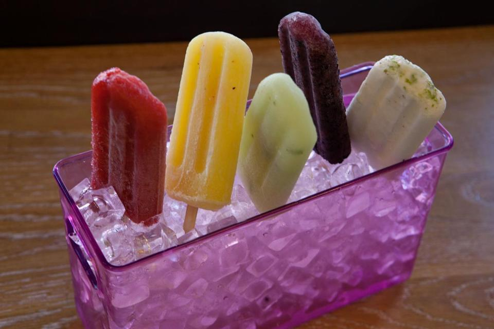 Housemade paletas at Pressed.