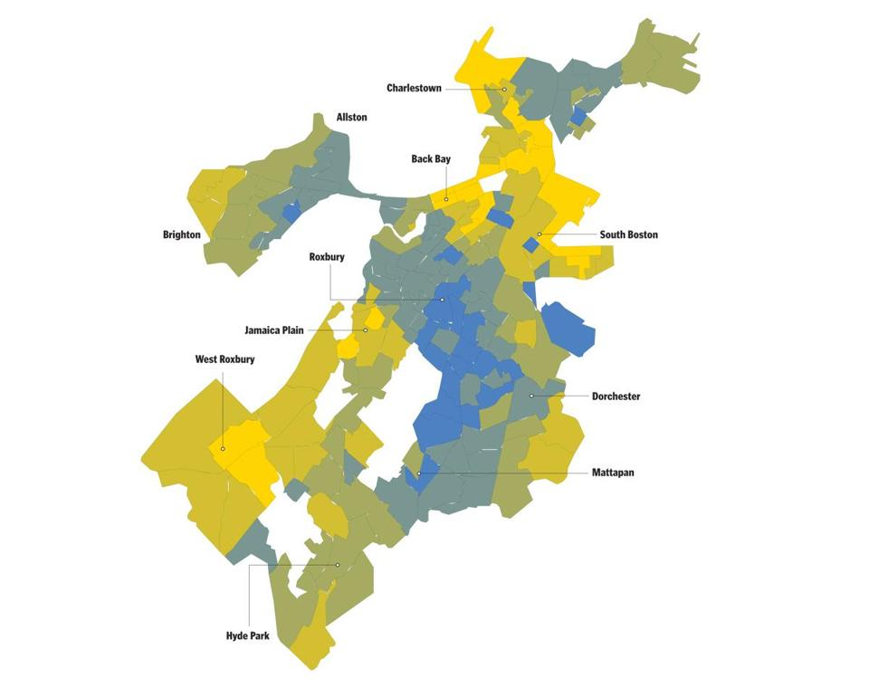 Mapping Bostons disparity The Boston Globe