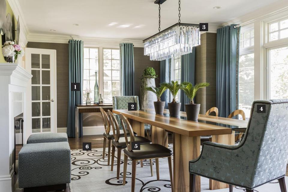 A Wellesley Dining Room Blends Ivy League And Urban Chic