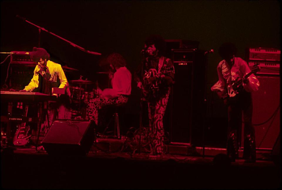 Sly & the Family Stone performing at the Fillmore East in New York.