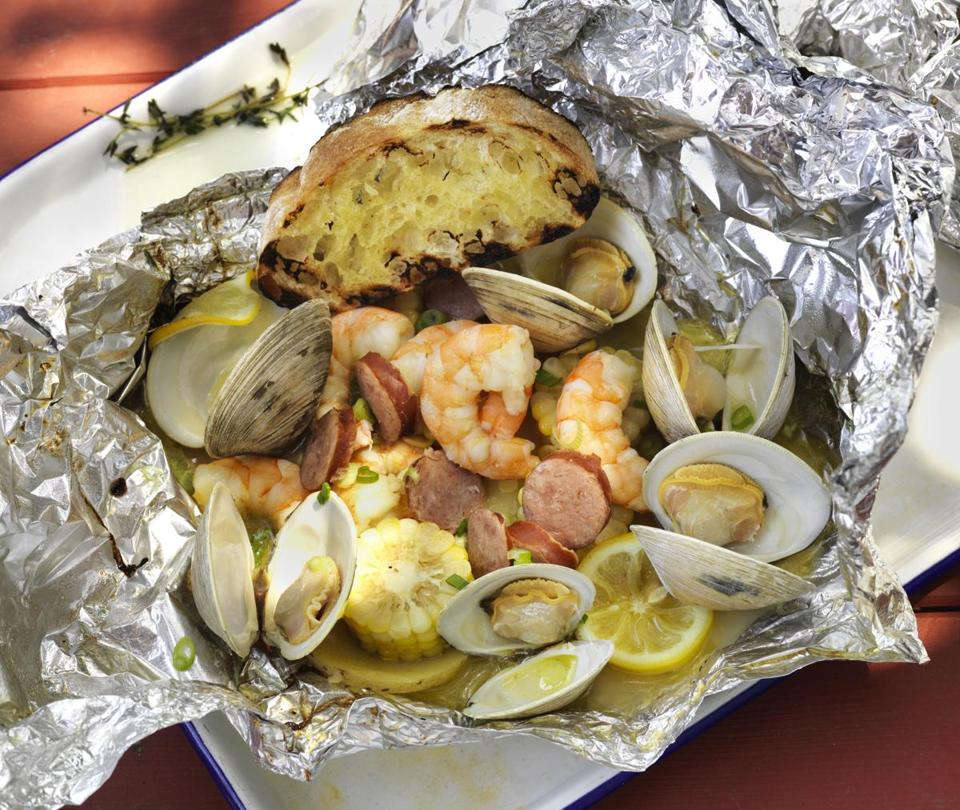 Hobo pack recipes for cooking seafood on the grill the for How to grill fish in foil