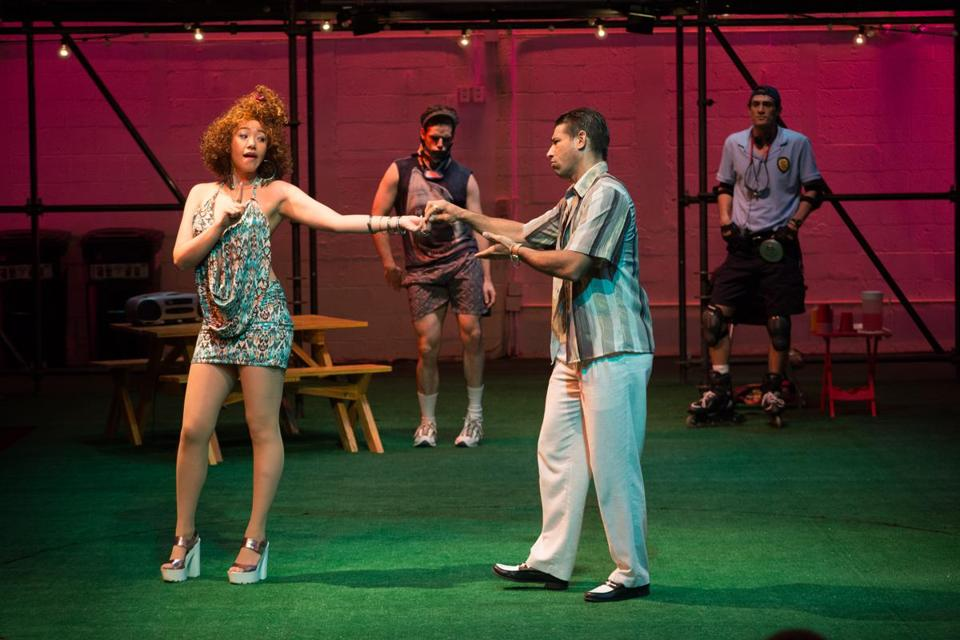 "From left: Jenelle Chu, Aaron Bartz, Ian Lassiter, and Ben Chase in ""The Comedy of Errors"" in Lenox."