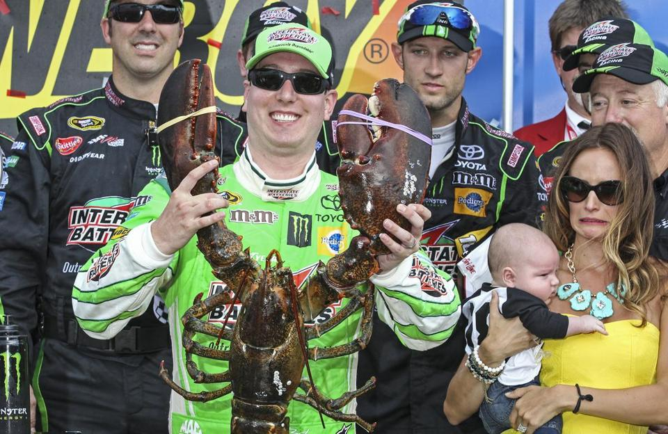 Busch held the Loudon lobster trophy in victory lane.