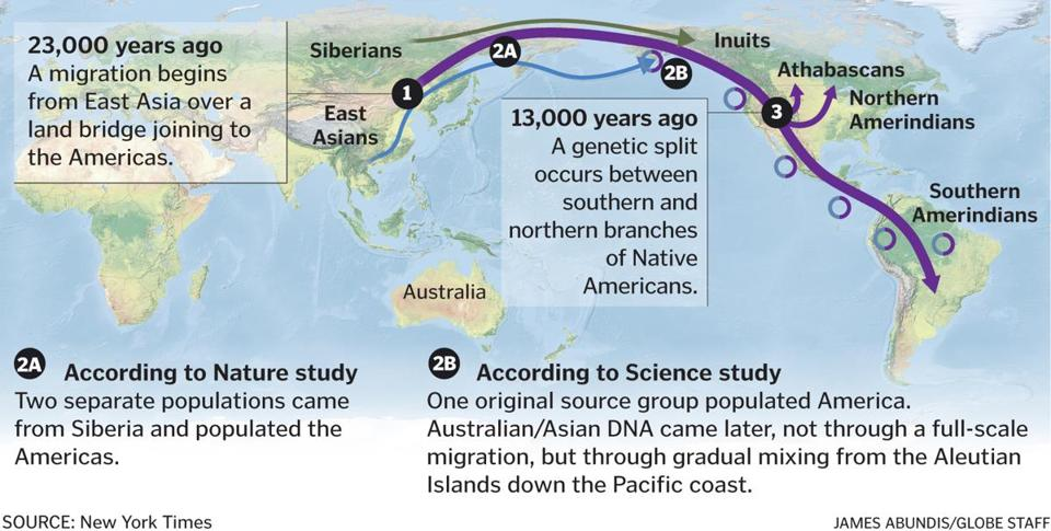 Harvard Study Sheds New Light On Origin Of Native American - Ancestral origins us map
