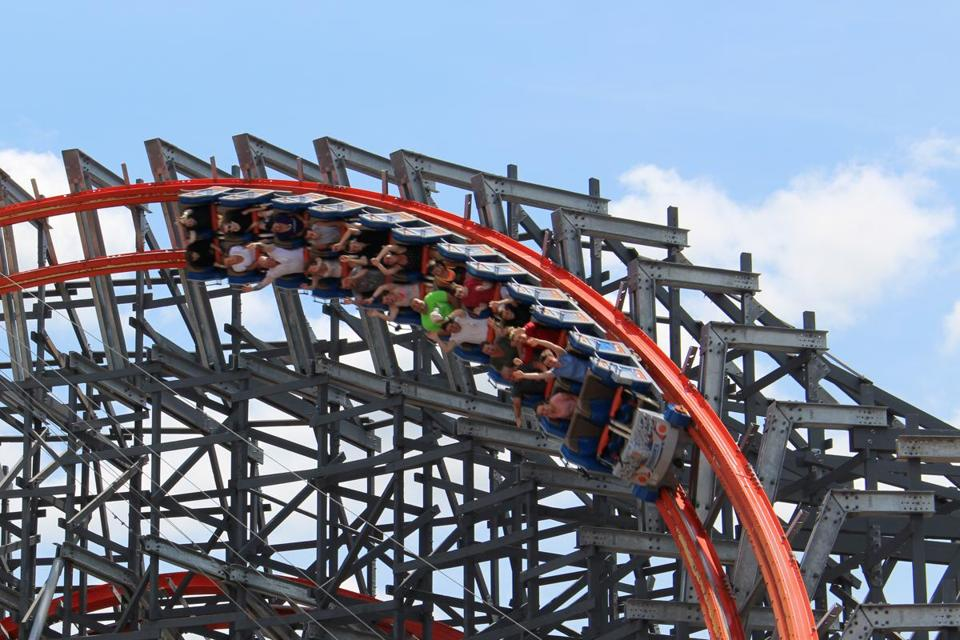 Six Flags' Wicked Cyclone.