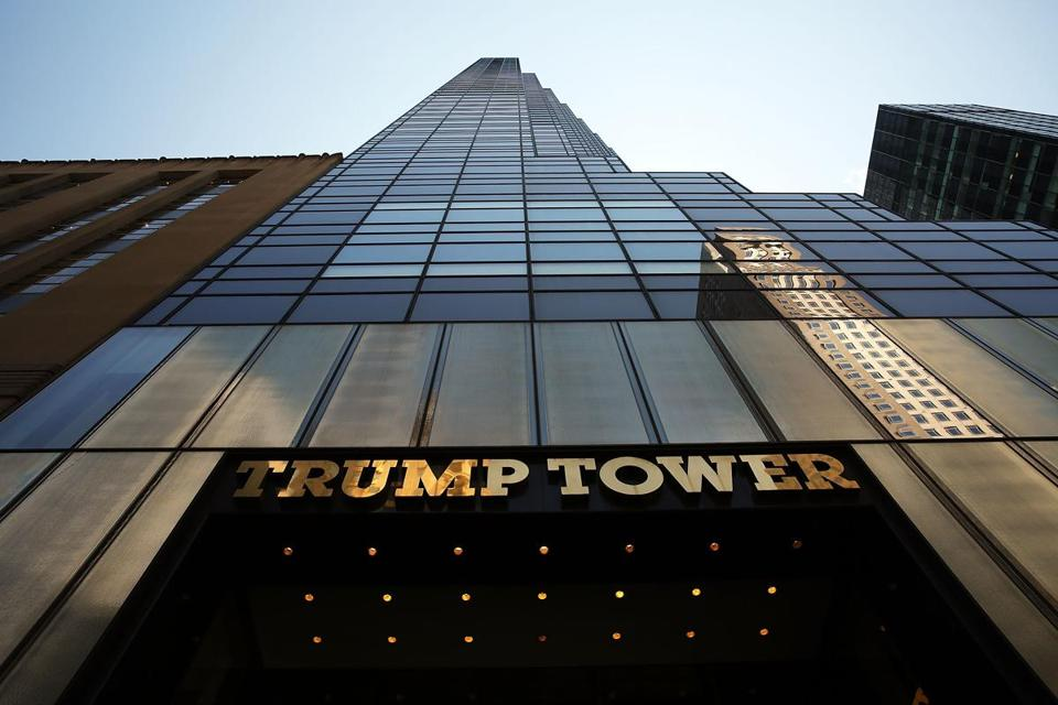 The Trump Tower on 5th Avenue in New York City.